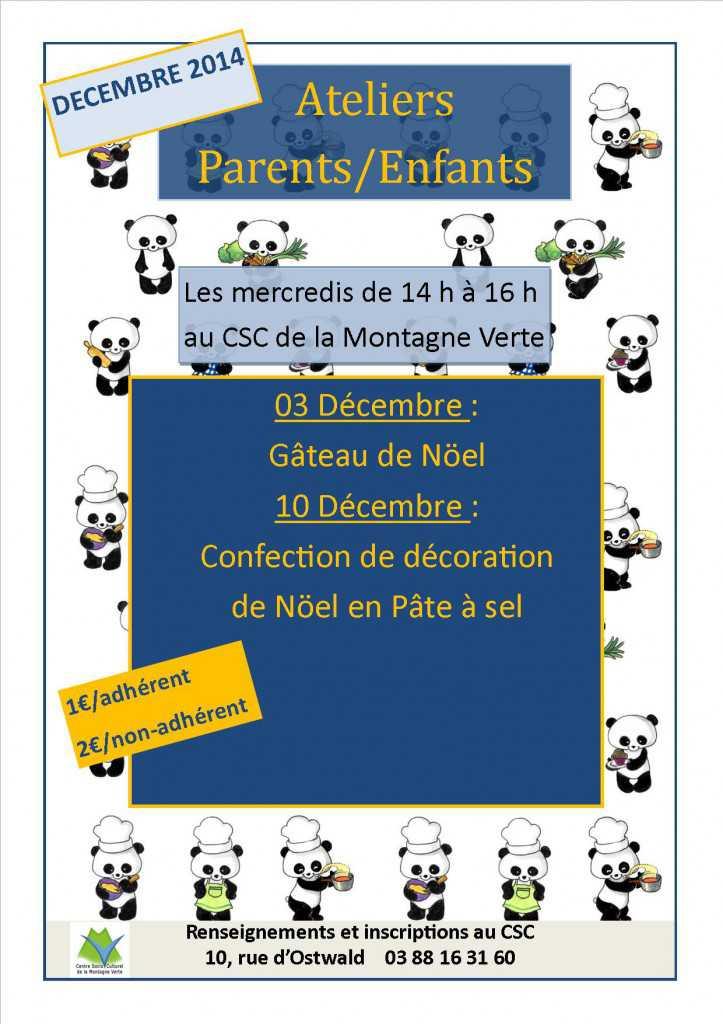 atelier parent enfant décembre 2014