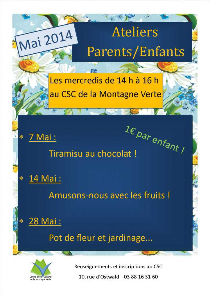ateliers parents-enfants mai