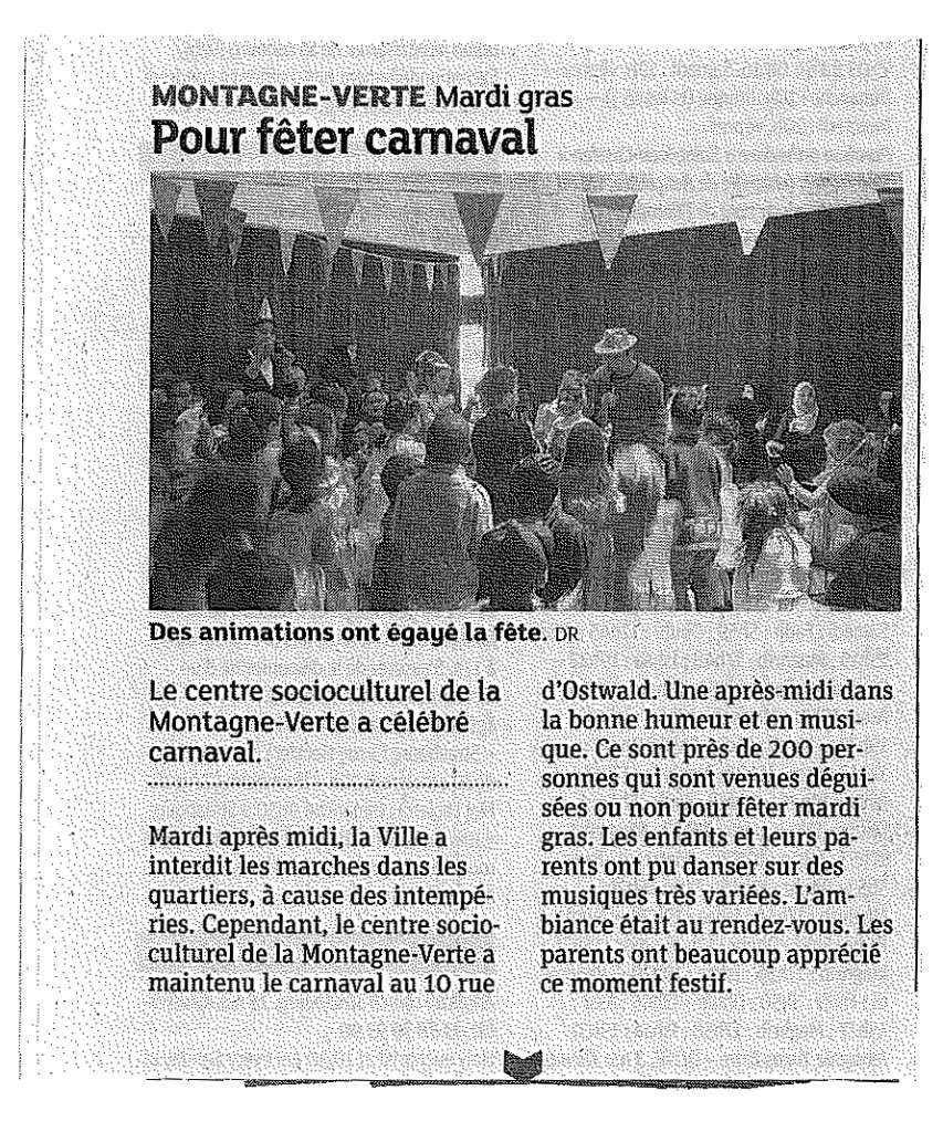 Article DNA Carnaval 12/02/16